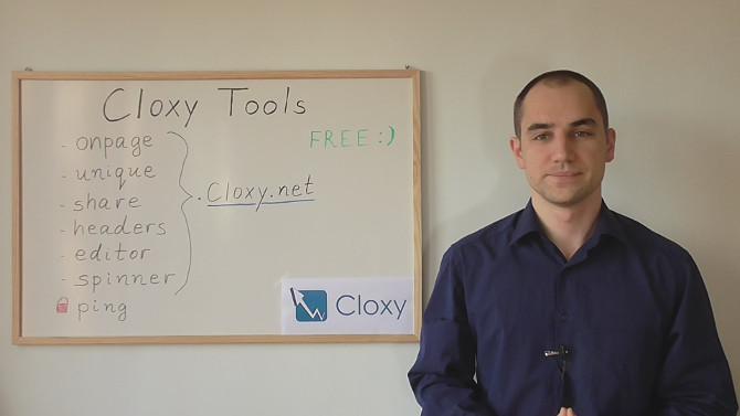 Cloxy Tools - SEO инструменти (Видео)