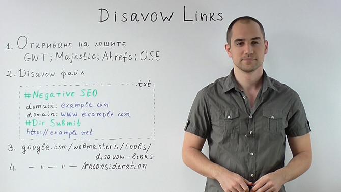 Отказване на лоши връзки с Disavow Links Tool (Видео)