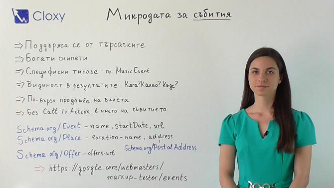 Microdata за събития (Видео)