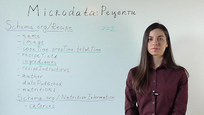 Microdata за рецепти (Видео)
