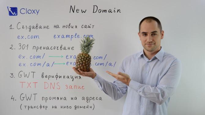 Прехвърляне на сайт на нов домейн (Видео)